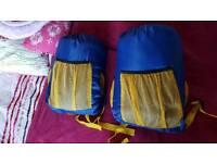 Pair of junior sleeping bags