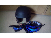 winter sport complect trousers size S, helmet size 54cm, 2 pair googles
