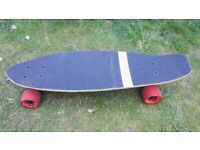 Old School Shortboard Cruiser with Longboard style trucks for carving