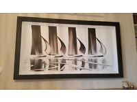 Original B&W Duncan Macgregor painting for sale - 24x48.