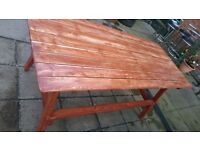 Garden large table wooden. hand-made for 6-8 people. good for summer party.