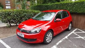 Excellent condition, low mileage Red Volkswagen Golf, 2 Previous owners, MOT May 2019