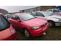 RED 2004 VAUXHALL ASTRA ACTIVE, 1.6 PETROL, BREAKING FOR PARTS ONLY, POSTAGE AVAILABLE NATIONWIDE