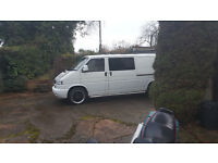 vw transporter t4 lwb 2.5tdi 102 reg as a motorhome up for SWAP what you got.