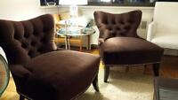 2 Velvet Occasional Chairs from Liberty