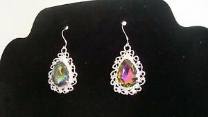 Rainboe Topaz Earrings Kitchener / Waterloo Kitchener Area image 1