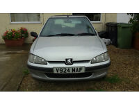 Peugeot 106 for sale 12 months MOT. Great little runabout, very cheap to run. CD/radio. Good tyres