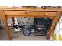 Solid pine desk with keyboard drawer - free