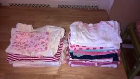 bundle of baby girl clothes 6-9 months old