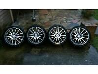 "WR racing 4 stud alloy wheels 17"""
