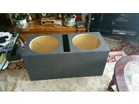 Twin 15inch subwoofer ported box