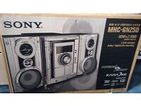 Sony mini hifi stereo system with 3 CD, DVD, VCD player