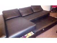 Black Sofa bed (corner) with storage