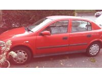 Vauxhall Astra 1.6 2003 red only 38000 miles