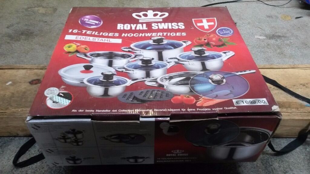 Royal Swiss 16 Piece Pots And Pans Brand New In Box In