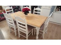 Exsquisite 6ft x 3ft Shabby Chic Table Set - Nationwide Delivery - Newly Refurbished