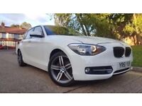 2011 BMW 1 series 2.0 5 door diesel White Low Miles,