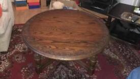Solid oak coffee table large