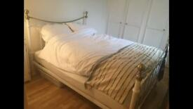 King size brass bed and mattress