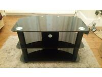 Smart 3 tier black glass TV/ Stereo/Entertainment stand