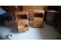Solid pine bedside cabinets ( pair)
