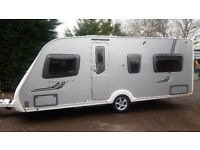 SWIFT CONQUEROR FIXED BED 2009 AWNING 4 BIRTH TOURING CARAVAN