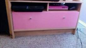pink tv bench