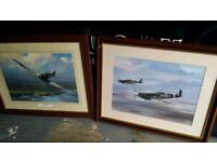 BARGAIN Two framed spitfire pictures signed Barry price £30
