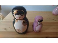 Set of 2 ceramic dolls