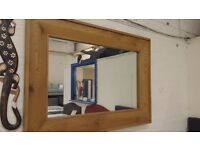 LARGE SOLID OAK FRAMED MIRRORS ! CHEAP!