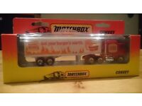 Collectable Matchbox Burger King convoy truck from 1996