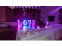 4ft Light-up LOVE letter hire - Only £150! Perfect for Weddings, Engagements & Anniversaries