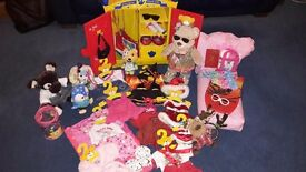 Build a bear wardrobe with accessories also 2 bears and 4 small frys £65 for the lot .no offers