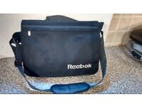 Black canvas messenger bag / laptop bag / business case