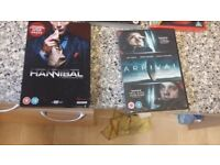 dvds £2 each except hannibal series 1 £4/ and breaking bad £3/ or the series 100 for £10