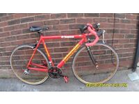CANNONDALE SAECO 27 SP RACING BIKE LIGHTWEIGHT 21in/54cm ALLOY FRAME /CARBON FORKS CLEAN ORIG BIKE