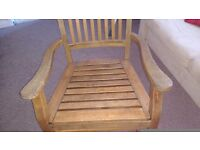 A Solid Wooden Armchair