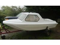14' FISHING BOAT LIKE NEW. . £1250