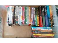 Books, dvd, casette collection
