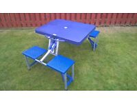 FOLDING CAMPING TABLE SEAT`S FOUR