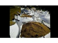 Tonne bags topsoil sand stones