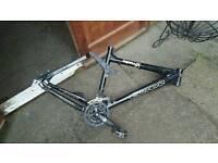 Carrera banshee frame, bike parts