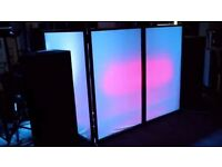 Equinox DJ Screen Disco Stage Band Lighting Screen Effects Facade + Carry Case
