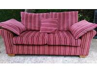 Lovely red stripe 2 seat sofa from next - can deliver
