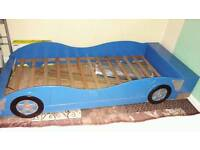 "Single bed frame ""blue car"" with storege"