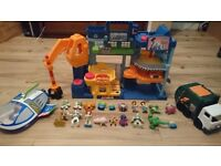 Imaginext Tri-County Landfill from Toy Story 3 plus Buzz rocket and rubbish truck
