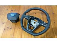 GENUINE AND NEW SEAT FR STEERING WHEEL MULTI-FUNCTION WITH AIRBAG 7N5 419 091 G IBIZA LEON AND OTHER