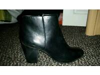 SIZE 6 BRAND NEW TAGS NEXT WOMEN'S BLACK LEATHER BOOTS