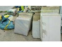 Indian sandstone slabs random sizes.