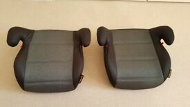 Two child booster seats